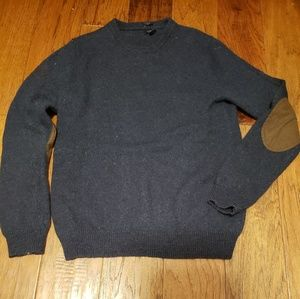 J Crew Men' Wool Sweater With Patches